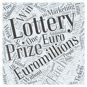 How to win Euro Millions lottery prizes every week without buying tickets word c Stock Illustration
