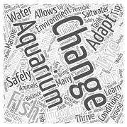 How to Safely Change the Water in Your Saltwater Aquarium word cloud concept Stock Illustration