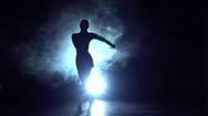 Samba dance in the studio, silhouette. Slow motion Stock Footage