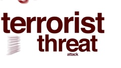 Terrorist threat animated word cloud Stock Footage