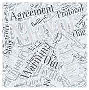The US Mayors Climate Protection Agreement on Global Warming word cloud concept Stock Illustration