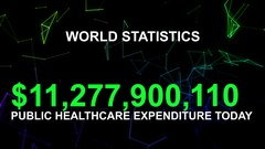 Public Healthcare expenditure today Stock Footage