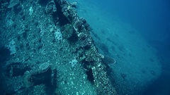 Wreck SS Thistlegorm, Red Sea, Sharm el Sheikh, Egypt Stock Footage