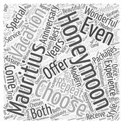 Why You Should Choose A Mauritius Vacation For Your Honeymoon word cloud concept Stock Illustration