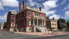 Custom House, Salem Maritime National Historic Site, Salem, MA. Stock Footage