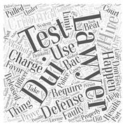 Hiring a Criminal Defense Lawyer for a DUI Charge word cloud concept Stock Illustration