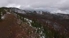 Strawberry Mountain Wilderness Oregon Aerial Stock Footage
