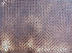 Rusty steel plate Stock Photos
