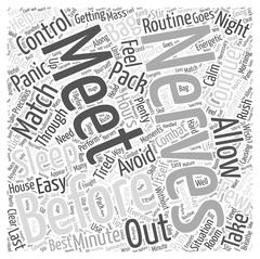 Conquer Nerves at Matches and Competitions word cloud concept Stock Illustration