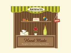 Shop of Artifacts Stock Illustration