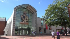 The Peabody Essex Museum (PEM) in Salem, MA, United States. Stock Footage