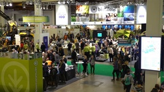 A lot of people at the Agricultural Exhibition Stock Footage