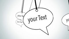 Speech bubbles fly through Stock After Effects