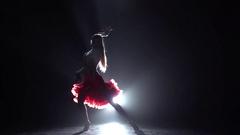 Girl dancing cha-cha-cha. Slow motion Stock Footage