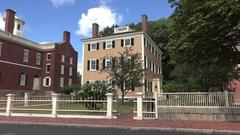 Hawkes House, Salem Maritime National Historic Site, Salem, MA. Stock Footage