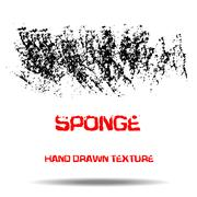 Abstract black sponge stains texture. Design for your brushes and grunge effects Stock Illustration