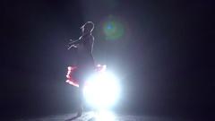 Woman dancing cha-cha-cha. Slow motion Stock Footage