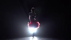 Girl dancing latino. Slow motion Stock Footage