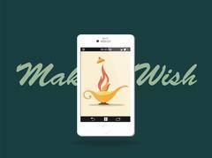 Make a wish! Modern Aladdin's Lamp Piirros