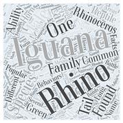 Rhino iguana word cloud concept Stock Illustration
