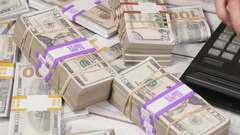4K Cash Money On a Table Being Calculated Stock Footage