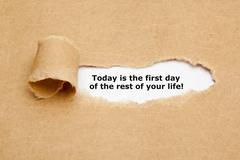 Today Is The First Day Of The Rest Of Your Life Stock Photos
