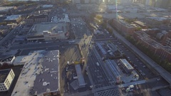 Aerial video Holland tunnel New Jersey Stock Footage