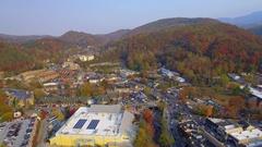 Gatlinburg Tennessee 4k aerial video Stock Footage