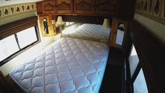 Interior Of RV Recreational Vehicle Camper Bedroom Stock Footage
