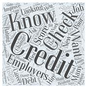 Work Related Credit Checks How to Handle Them If You Have a Poor Credit Score wo Stock Illustration
