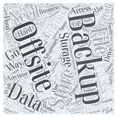 Offsite Backup Advantages word cloud concept Stock Illustration