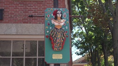 Lady of Salem Maritime Public Art in Salem, MA. Stock Footage