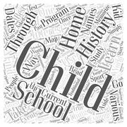 Home Schooling and the Study of History word cloud concept Stock Illustration