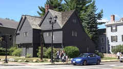 The Witch House in Salem, MA, United States. Stock Footage