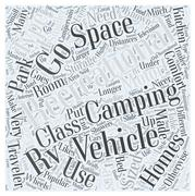 Types of Recreational Vehicles word cloud concept Stock Illustration
