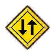 Arrows guide traffic signal Stock Illustration