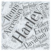Finding The Right Harley Accessory word cloud concept Stock Illustration