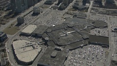 Aerial - Mississauga Square One 01 Stock Footage