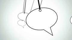 Speech bubbles flythrough Stock Footage