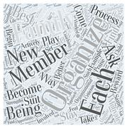 Organize your Family to Become Better Organized word cloud concept Stock Illustration