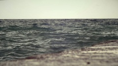 Small storm on the coast of the Black Sea Stock Footage