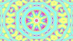 Light Pastel Ornate Psychedelic Kaleidoscope VJ Motion Background Loop 1 Stock Footage