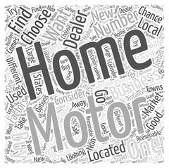 What to Consider When Choosing a Motor Home Dealer word cloud concept Stock Illustration