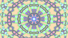 Light Pastel Ornate Psychedelic Kaleidoscope VJ Motion Background Loop 2 Stock Footage