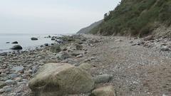 Beach landscape of Hiddensee Island (Germany) Stock Footage