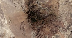 High-altitude overflight aerial of rocky desert near the Mexico/Texas border. Arkistovideo