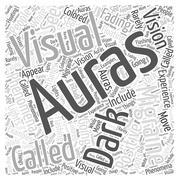 Migraine Auras word cloud concept Stock Illustration