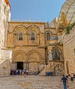Church of the Holy Sepulchre entrance Stock Photos