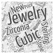 Cubic Zirconia and Sterling Silver word cloud concept Stock Illustration