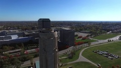 Aerial 360 view of downtown Kansas City Stock Footage